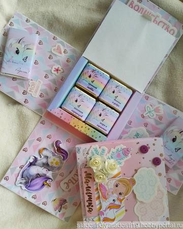 """Сладкая коробочка-подарок """"Magic Box"""" ручной работы на заказ"""