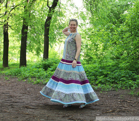 Платье в стиле бохо хлопковое летнее ручной работы на заказ