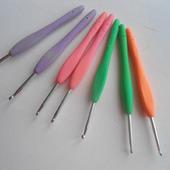 Крючки вязальные с силиконовой ручкой