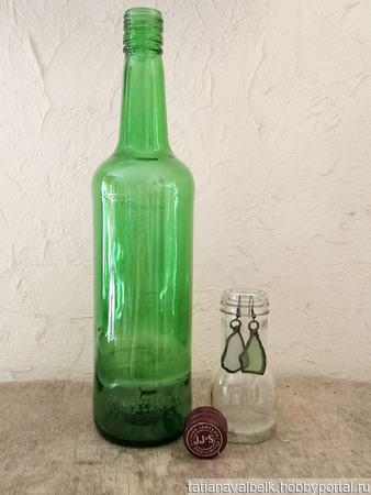 Бутылка зеленое стекло Джемесон ручной работы на заказ