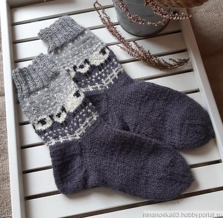 Носки с овечками ручной работы на заказ