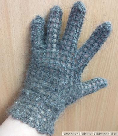 Перчатки ажурные козий пух ручной работы на заказ
