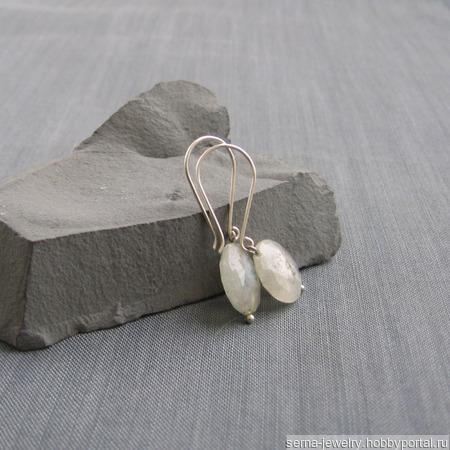 "Серьги ""Jellyfish"" с кварцем ручной работы на заказ"
