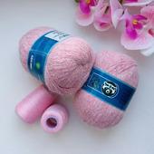 Пух норки. Цвет 859 розовый меланж