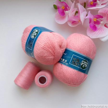 Пух норки. Цвет 813 розовый. ручной работы на заказ
