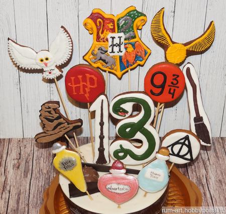 """Козули, пряники """"Гарри Поттер, Хогвартс"""" ручной работы на заказ"""
