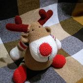 Олень Рудольф игрушка амигуруми