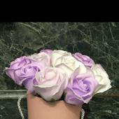 Нежный букет из мыльных роз