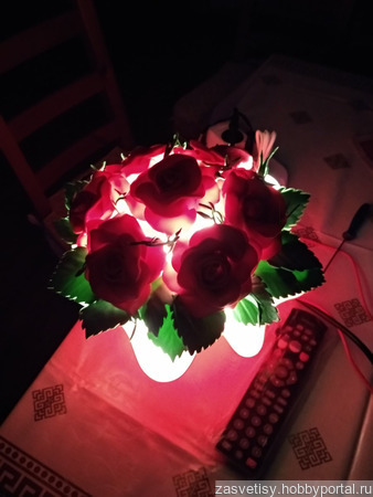 Светильник букет из изолона ручной работы на заказ