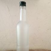 Бутылка матовое белое стекло с крышкой
