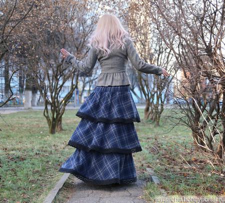 Юбка полушерстяная в стиле бохо на зиму ручной работы на заказ