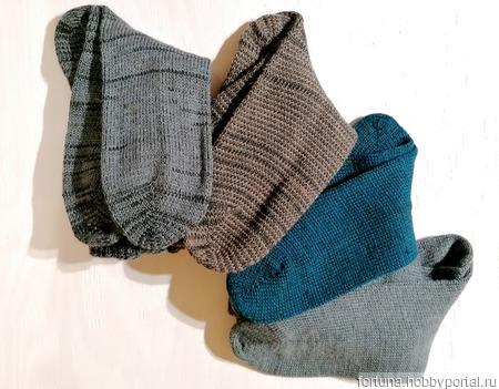 Носки вязаные мужские ручной работы на заказ