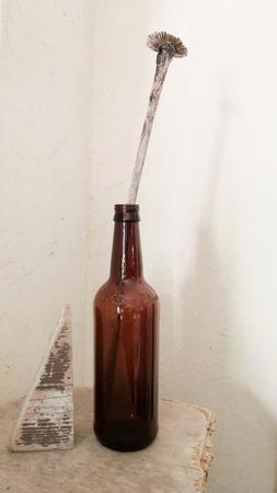 """Бутылка коричневое стекло """"Белый Кремль"""" ручной работы на заказ"""