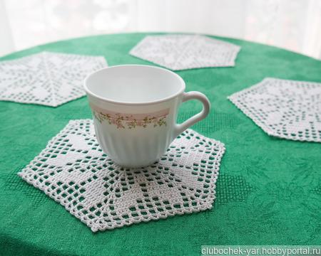 Салфетки вязаные для чаепития ручной работы на заказ