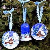 """Подвески интерьерные для дома и новогодней ёлки """"Домики"""""""