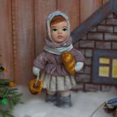 """Ватная игрушка """"Девочка с хлебом"""""""