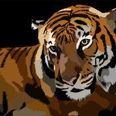 """Векторная работа """"Тигр"""""""