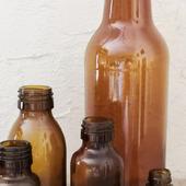 Маленькие бутылочки пузырек коричневое стекло 2