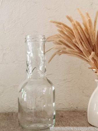 Маленькая бутылочка зиг-заг ваза ручной работы на заказ