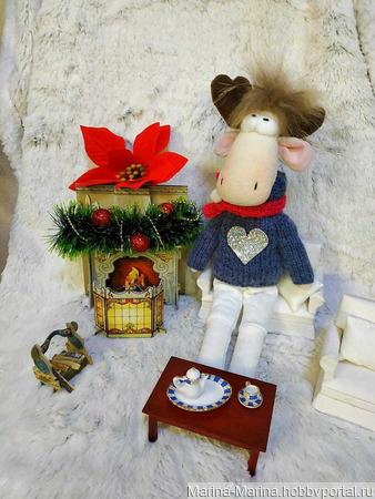 Лось новогодний в стиле Тильда ручной работы на заказ