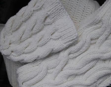 Комплект - шапка и снуд в один оборот ручной работы на заказ