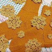 Носки золотистые
