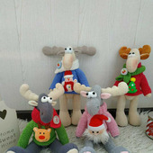 Мягкая игрушка Лось новогодний рождественский