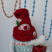 """Снеговик Тильда """"Новогодняя снеговичка"""""""