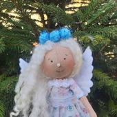 Кукла на ёлку - новогодний ангел