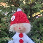 """Кукла на ёлку """"Снеговичка"""""""