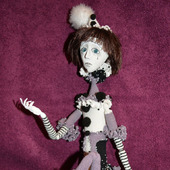 Пьеро - будуарная кукла