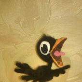 МК по вязанию Воронёнка