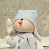 Кукла ручной работы - Снеговик