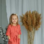 Платье-рубашка из натурального льна