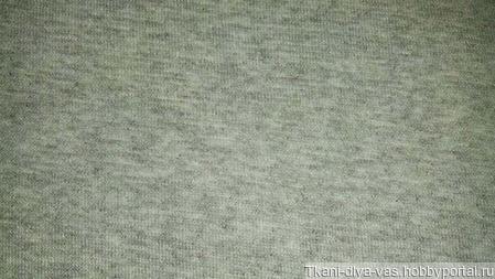 Рибана с лайкрой цвет серый меланж ручной работы на заказ