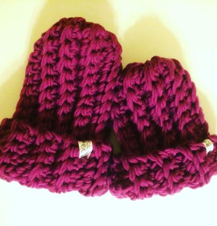 Комплект шапка+снуд из очень толстой пряжи ручной работы на заказ