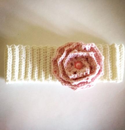 Повязка с цветком для малышки ручной работы на заказ