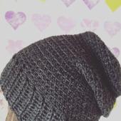 Вязаная шапка-чулок