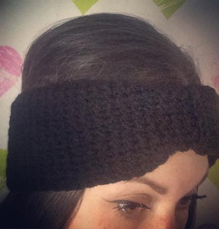 Вязаная повязка на голову ручной работы на заказ