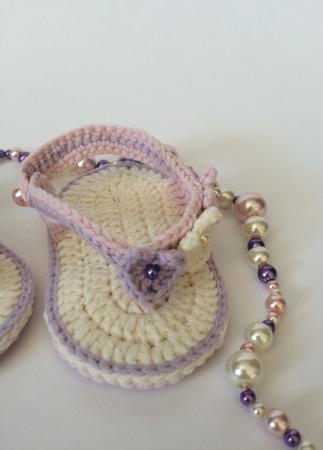 Пинетки-сандалики для фотосессии ручной работы на заказ