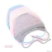 Чепчики тёплые вязаные для девочек