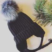"""Детская шапка """"Зимняя нежность"""""""