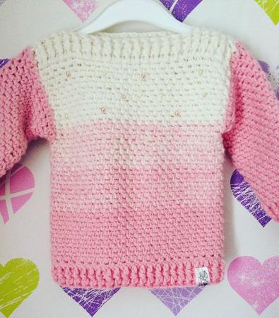 Детский свитерок с градиентом ручной работы на заказ