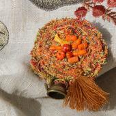 Брошь текстильная «Чай с календулой»