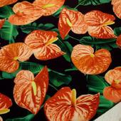 "Плательная ткань супер-софт ""Цветок Антуриум"""