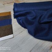 Итальянский костюмный Твид  Цвет синий индиго