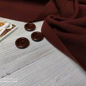 Пальтовый шерстяной трикотаж медный антик