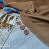 Теплая шерстяная  пальтовая ткань Кэмел