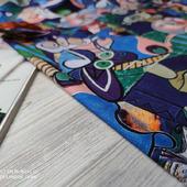 """Ткань костюмная Макканик """"Picasso сине-голубой"""""""
