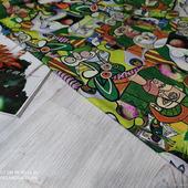 "Ткань костюмная Макканик ""Picasso зелёно-жёлтый"""